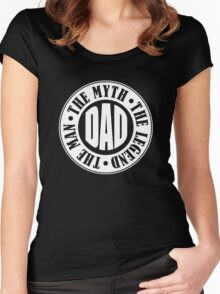Dad The Man The Myth Women's Fitted Scoop T-Shirt