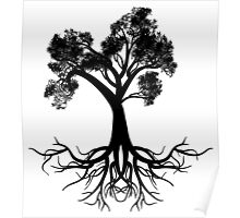 Stylized Tree Silhouette Poster