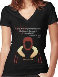 Glory Lies Beyond the Horizon Women's Fitted V-Neck T-Shirt