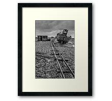 Derelict Boat at Dungeness Framed Print