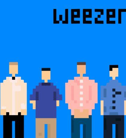 Weezer Blue 8 Bit Sticker