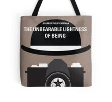 No408 My The Unbearable Lightness of Being minimal movie poster Tote Bag