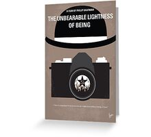 No408 My The Unbearable Lightness of Being minimal movie poster Greeting Card