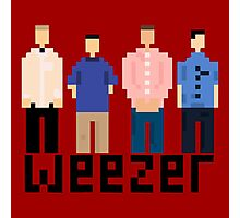 Weezer 8 Bit Photographic Print