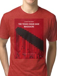 No410 My The Texas Chain Saw Massacre minimal movie poster Tri-blend T-Shirt