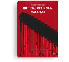 No410 My The Texas Chain Saw Massacre minimal movie poster Canvas Print