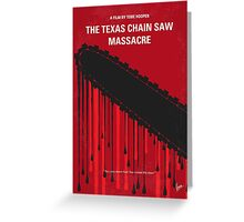 No410 My The Texas Chain Saw Massacre minimal movie poster Greeting Card