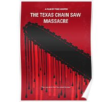 No410 My The Texas Chain Saw Massacre minimal movie poster Poster