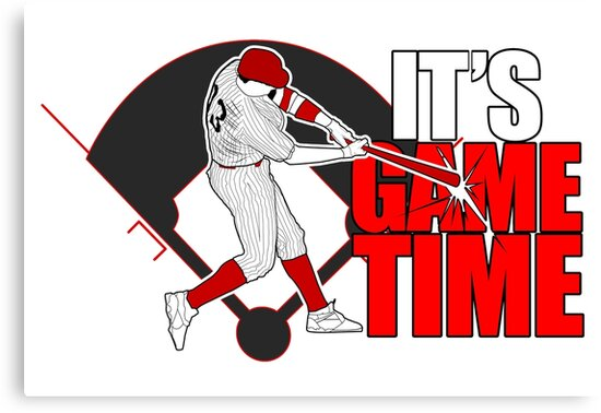 It's Game Time - Baseball (Red) by Adamzworld