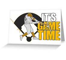 It's Game Time - Baseball (Yellow) Greeting Card