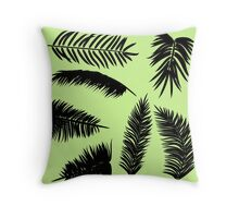 Palm Leaves silhouettes Throw Pillow