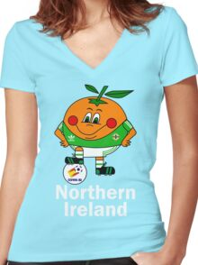 Northern Ireland Football - Espana 82 Women's Fitted V-Neck T-Shirt