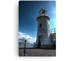 Lighthouse at Folkestone Harbour Canvas Print