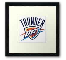 NBA THUNDER OKC Framed Print