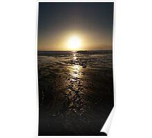 Sunset over Whitsand bay, Cornwall, UK Poster
