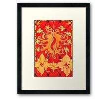 Kundalini, Love, Lotus, red, Flower, Spirituality Framed Print