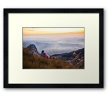 6725ft at 5:23 am Framed Print
