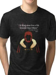 Iskandar Quotes Black Print Tri-blend T-Shirt