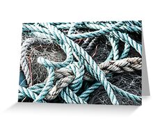 Rope on Net Greeting Card