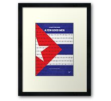 No417 My A Few Good Men minimal movie poster Framed Print