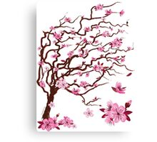 Japanese cherry tree | Árbol del cerezo japonés Canvas Print