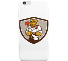 Leopard Plumber Wrench Plunger Crest Retro iPhone Case/Skin