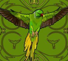 The Green Parrot Sticker