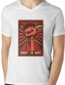 Right to Vape Mens V-Neck T-Shirt