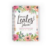 SEAMOS LEALES A JEHOVÁ (Watercolor Floral) Spiral Notebook