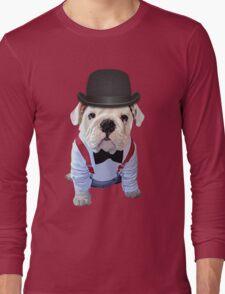Bulldog Hat Long Sleeve T-Shirt