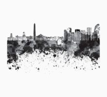 Buenos Aires skyline in black watercolor Baby Tee