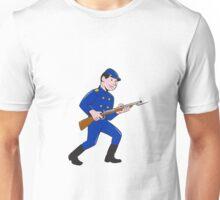 Union Army Soldier Bayonet Rifle Cartoon Unisex T-Shirt