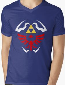 Hylian Shield - Legend of Zelda Mens V-Neck T-Shirt