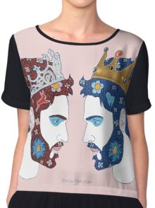 """""""Mirror, mirror on the wall, who is the fairest queen of them all"""" Chiffon Top"""