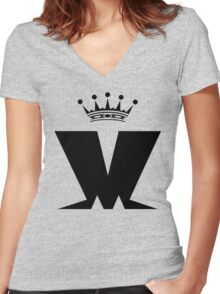 Mad..Mad..Madness Women's Fitted V-Neck T-Shirt