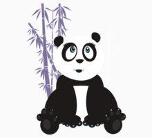 Panda Girl - Purple Kids Tee
