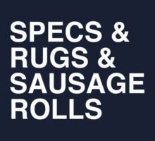 Specs and Rugs and Sausage Rolls One Piece - Short Sleeve