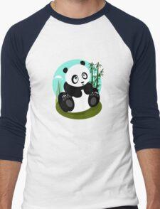 Baby Panda Men's Baseball ¾ T-Shirt