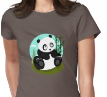 Baby Panda Womens Fitted T-Shirt