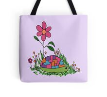 Turtle In the Flowers Tote Bag