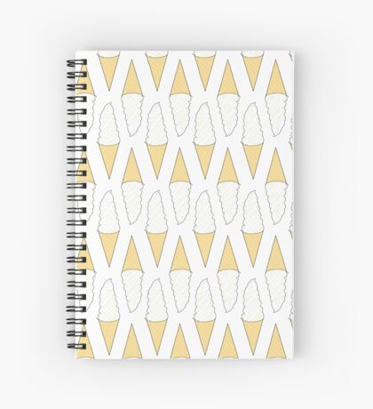Ice Cream - Vanilla Spiral Notebook