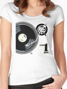 12Inch Vynil Women's Fitted Scoop T-Shirt