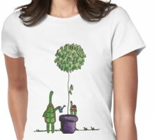 Gardening Turtle Womens Fitted T-Shirt