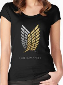Survey Corps - Gold Silver Women's Fitted Scoop T-Shirt