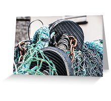 Tangled Rubber, Rope and Chains Greeting Card