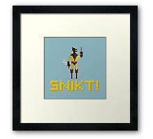 SNIKT! Framed Print