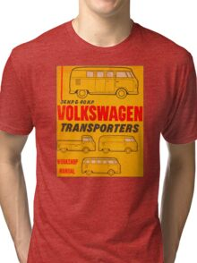 Volkswagen Kombi Workshop Manual Tri-blend T-Shirt
