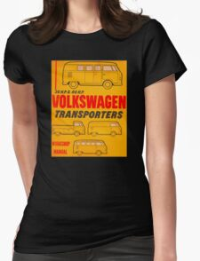 Volkswagen Kombi Workshop Manual Womens Fitted T-Shirt