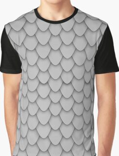 Grey Dragon Scales Graphic T-Shirt