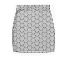 Grey Dragon Scales Mini Skirt